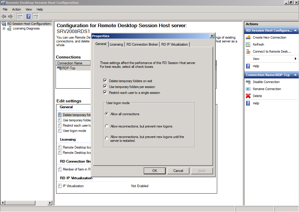 Management (how to) changes for RDS in Windows Server 2012