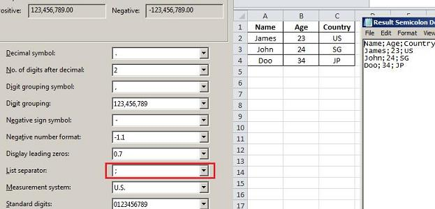 How to Convert Format Excel to CSV with Semicolon Delimited – Semicolon Worksheet