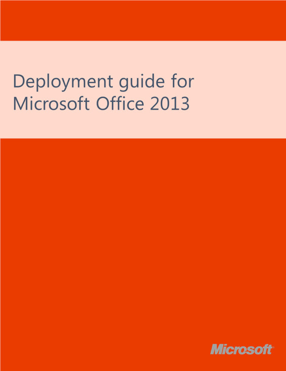 E book gallery for microsoft technologies en technet articles deployment guide for office 2013 v oct 2013 fandeluxe Gallery