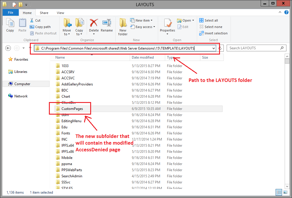 SharePoint 2013: how to create a custom access denied page