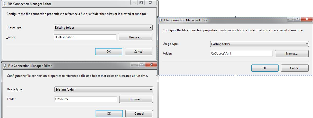 SSIS: Move a Folder from one Drive to Another Drive Using