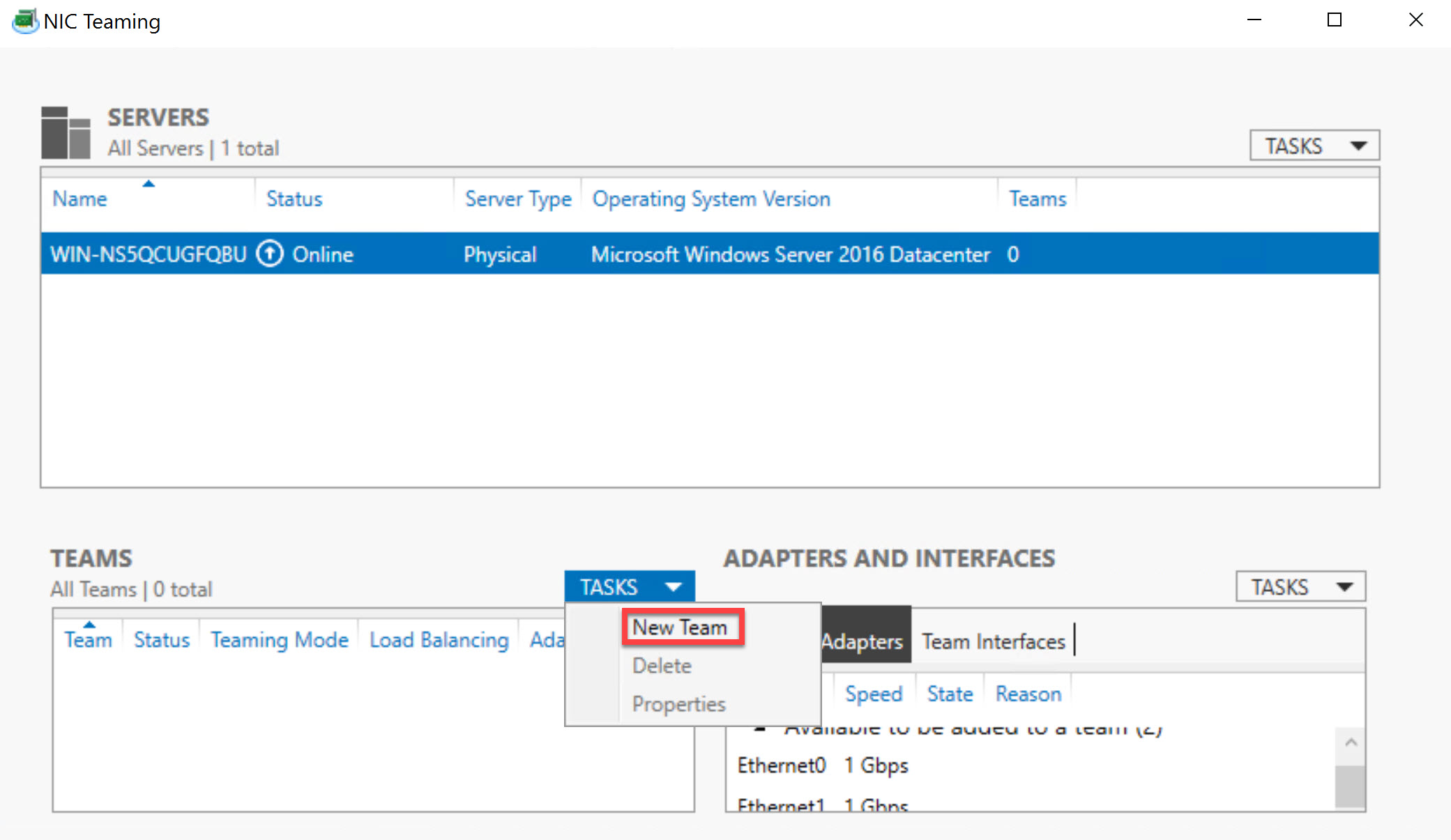 Windows Server 2016: NIC Teaming with Cisco Switch - TechNet
