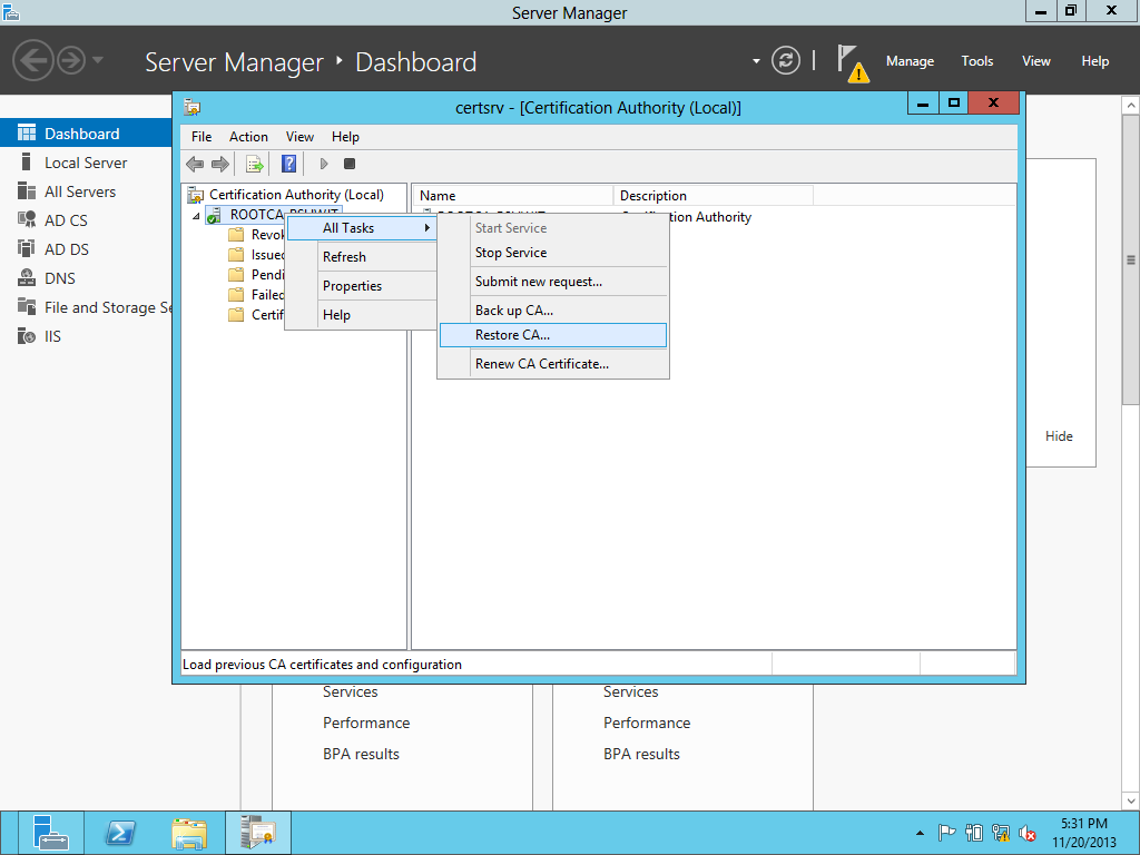 Upgrading the pki from windows server 2008 r2 to windows server restoring the database 1betcityfo Image collections