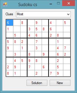 C# - OOP Sudoku