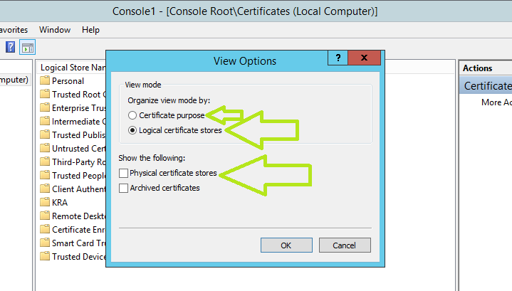 Windows Certificate Store: Checking certificates - TechNet Articles ...