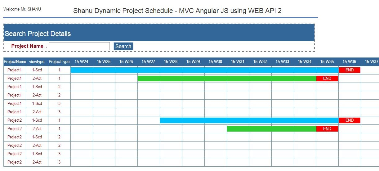 Dynamic Project scheduling using MVC Angular JS - TechNet