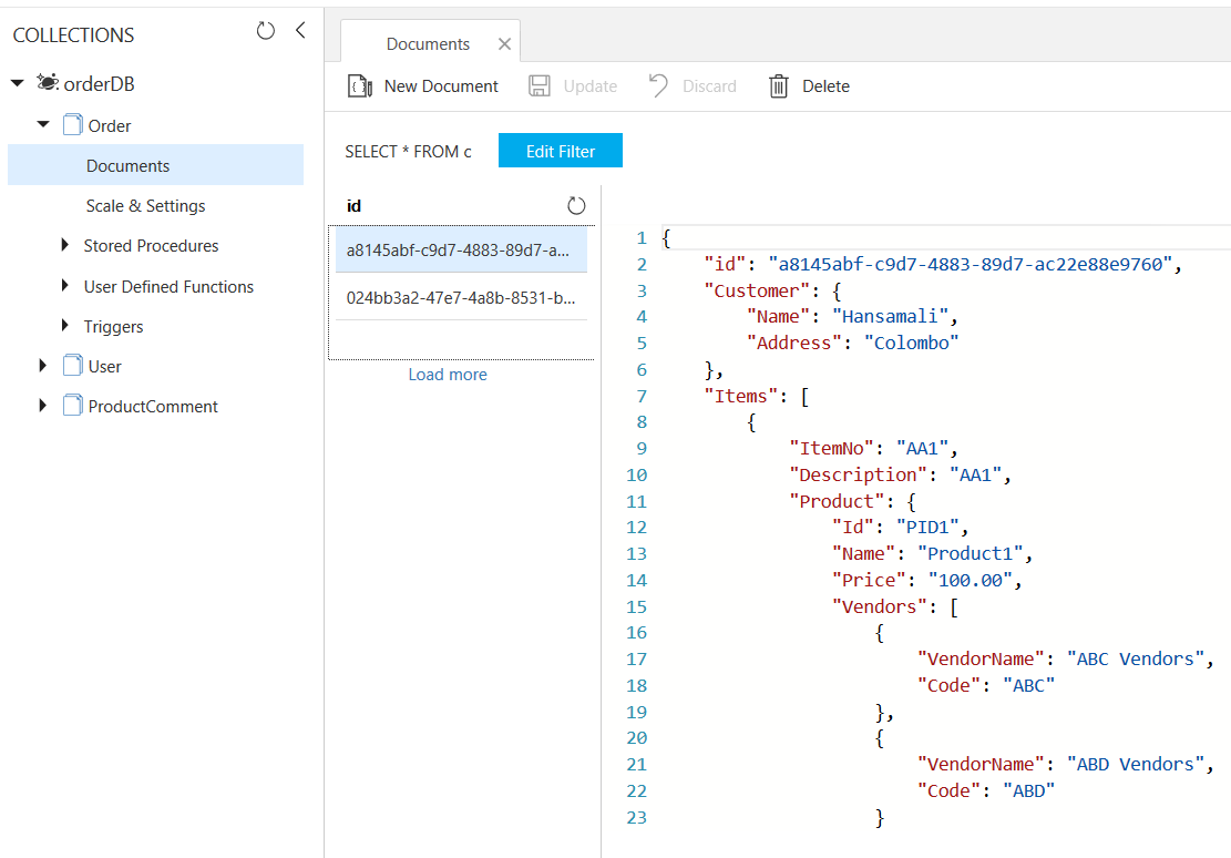 Azure Cosmos DB: Designing your data structure - TechNet