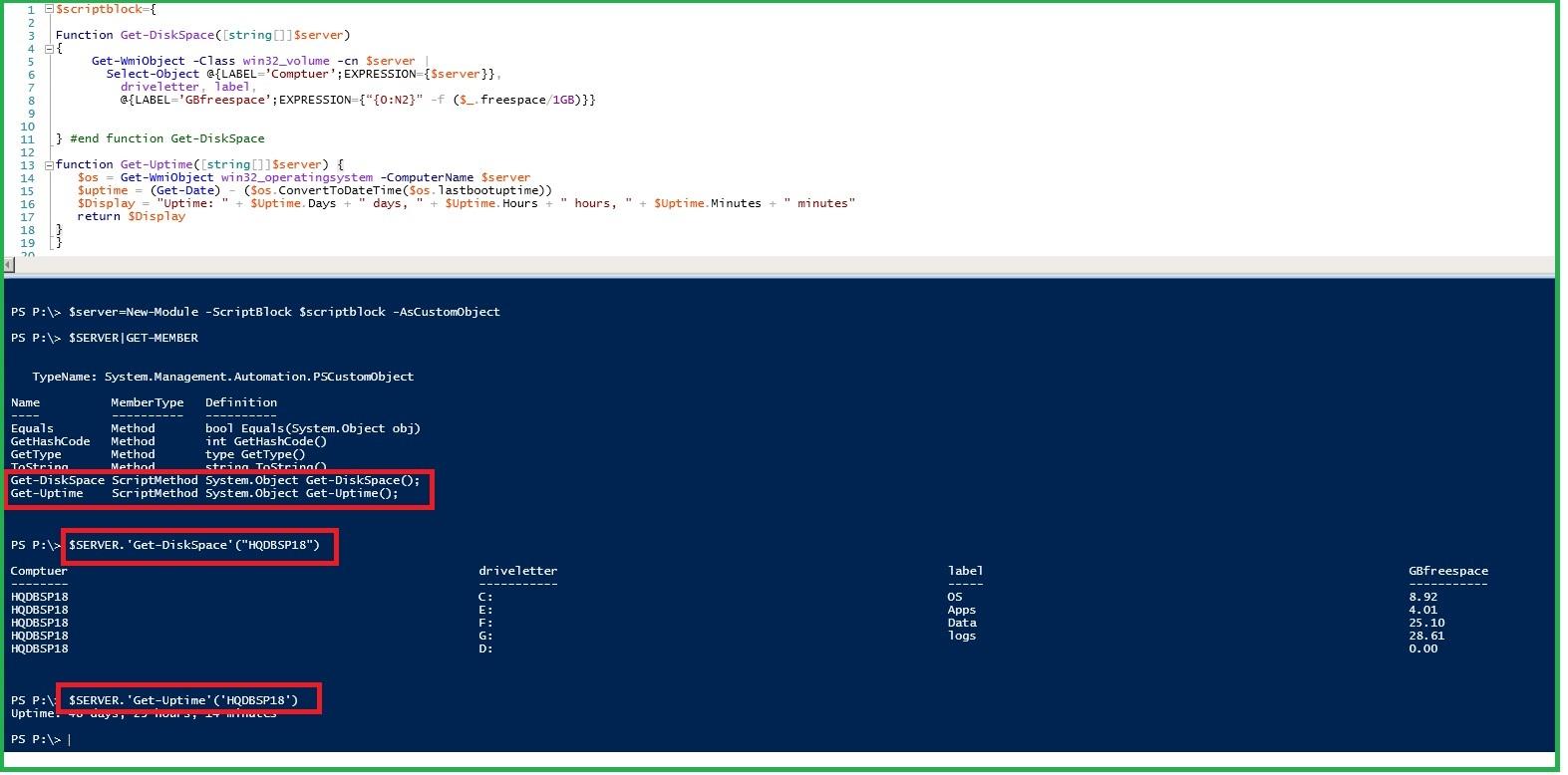 PowerShell: Extending Modules - System Parameter measurement