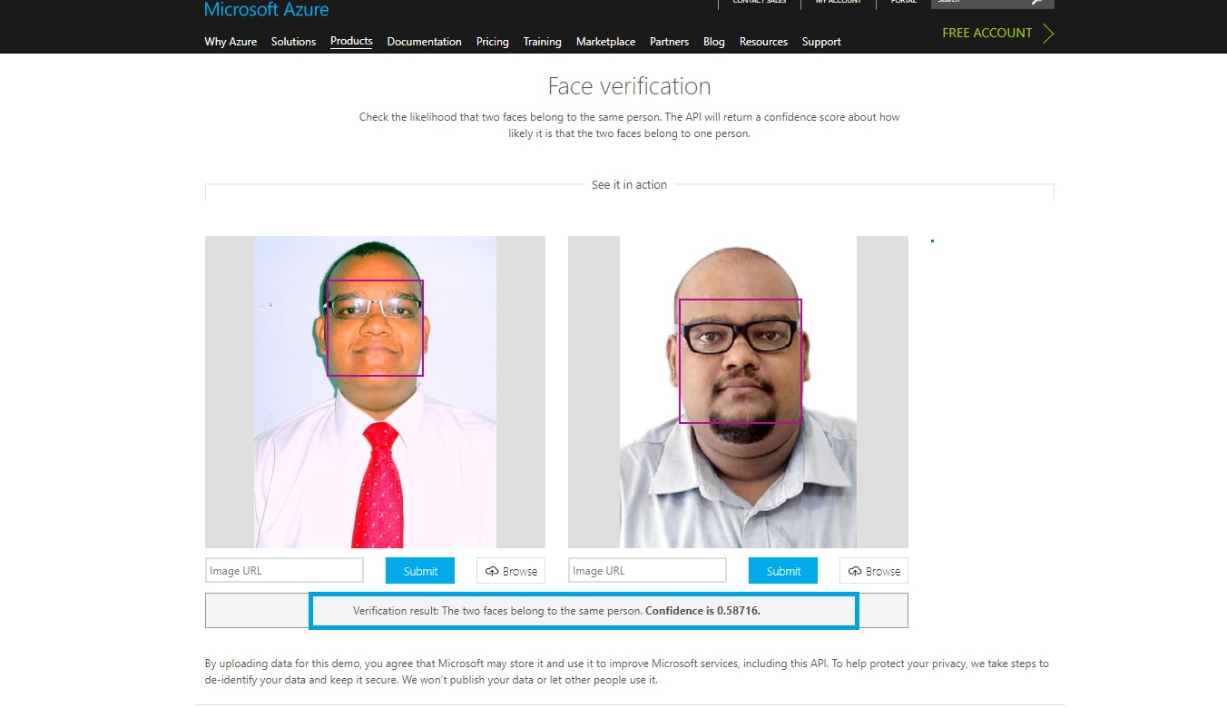 Logic Apps: Face Verification Using Microsoft Cognitive