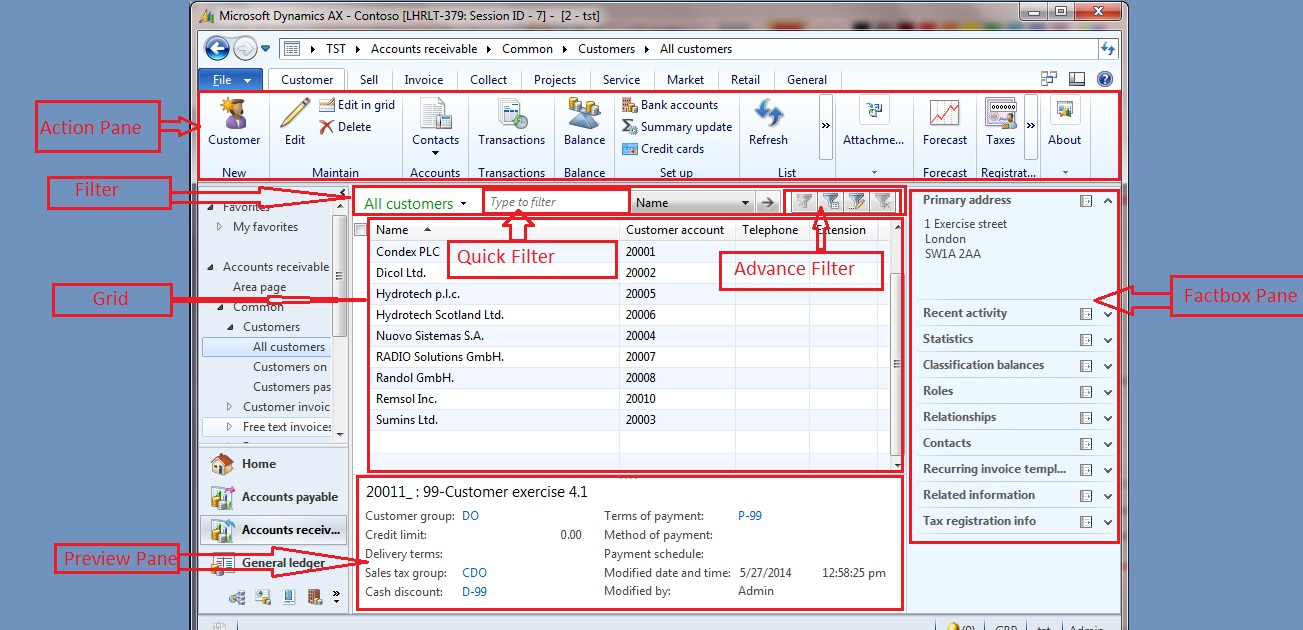Introduction to Microsoft Dynamics® AX 2012 - Client