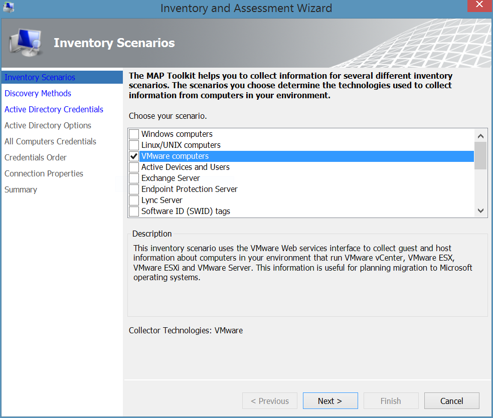 map how to inventory your vmware environment technet articles