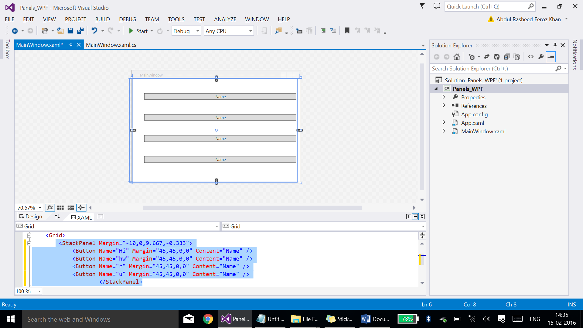 Panels (Stackpanel/Wrappanel/Dockpanel) in WPF: - TechNet