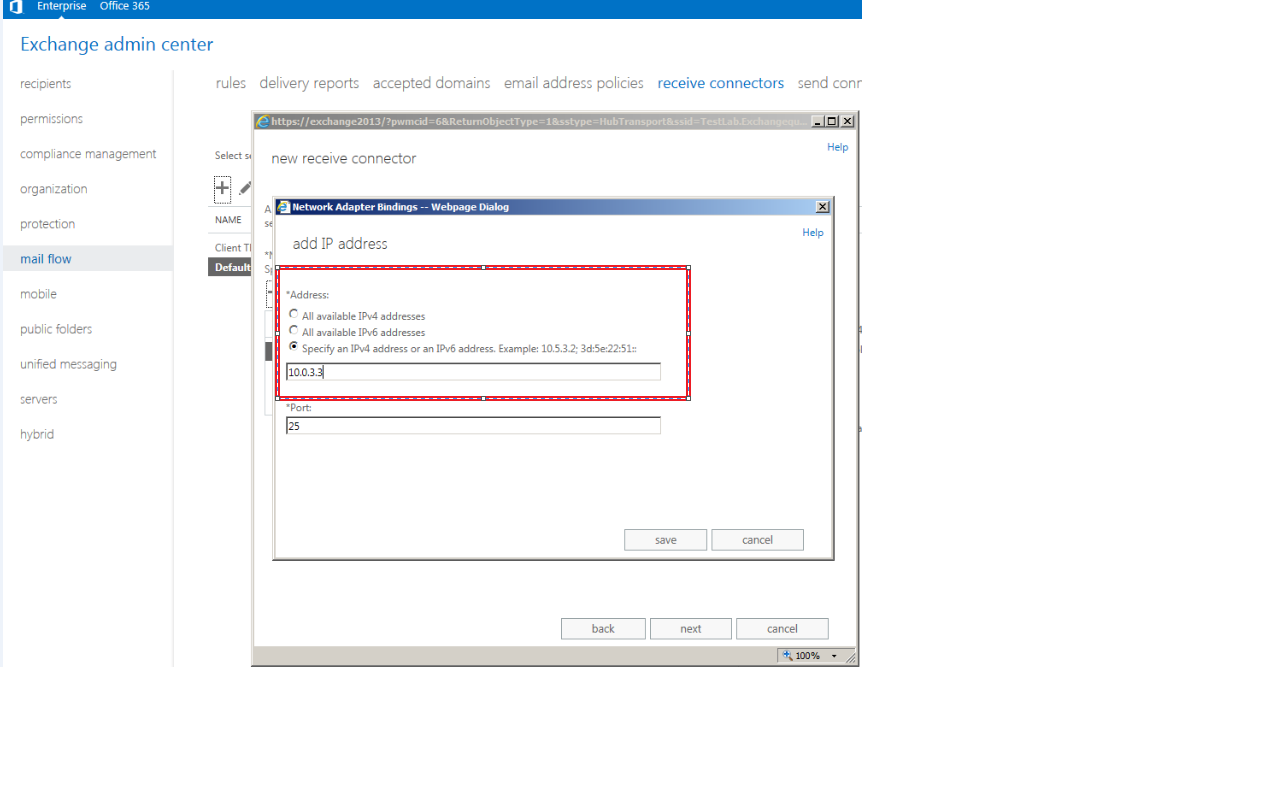 Steps to configure relay in Exchange 2013 TechNet Articles