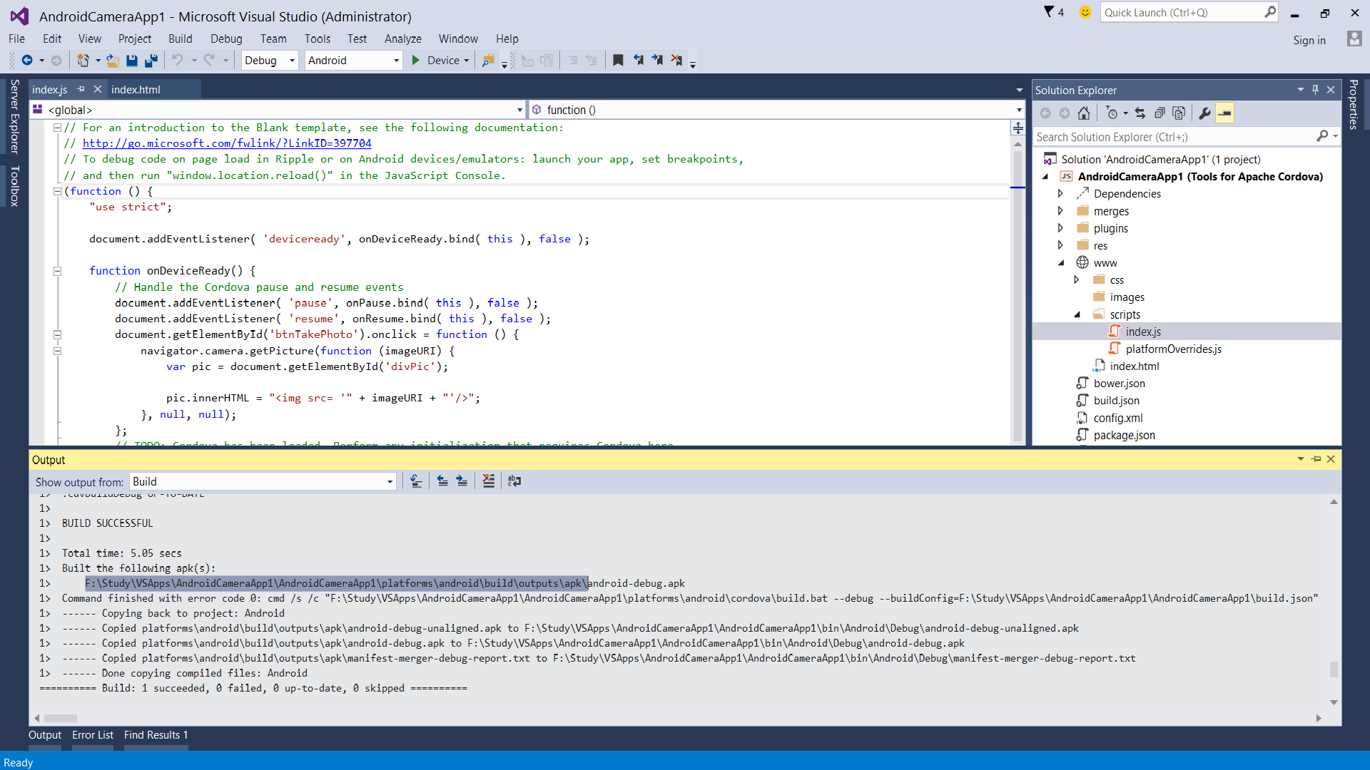 Visual Studio 2015: creating Android Camera App - TechNet Articles