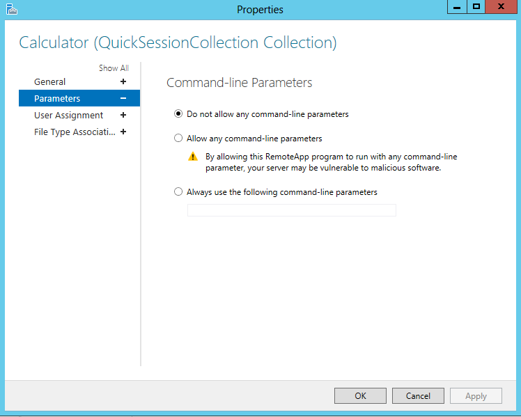 Publishing RemoteApps in Windows Server 2012 - TechNet