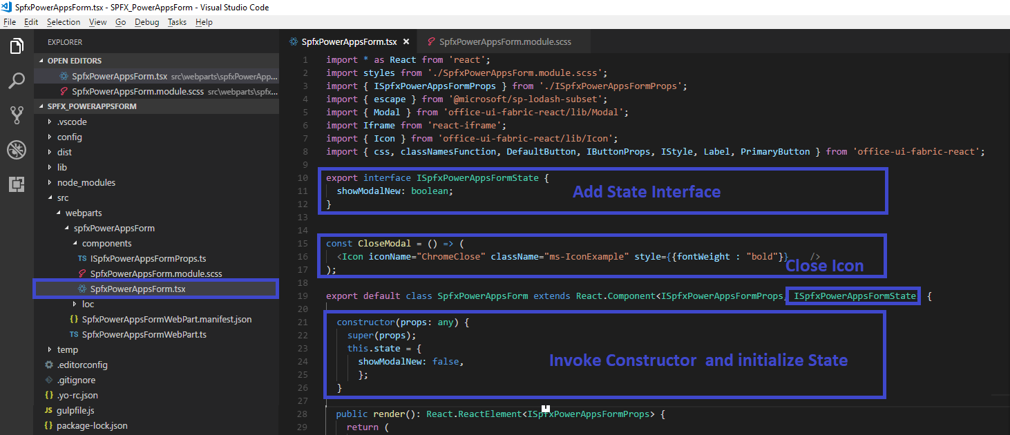 Sharepoint Online: Integrate Power apps canvas form with