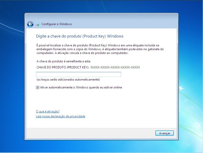chave de ativação do windows 7 ultimate 32 bits original