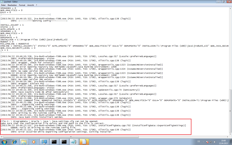 java jre 8u45 64 bit