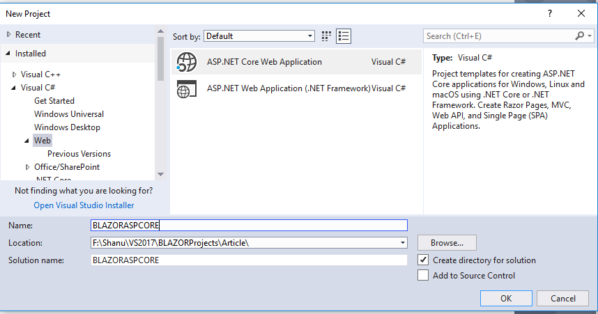 ASP NET Core Blazor CRUD using Entity Framework and Web API