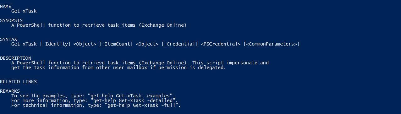 Retrieve Exchange Online Task using EWS Managed API 2 2 and