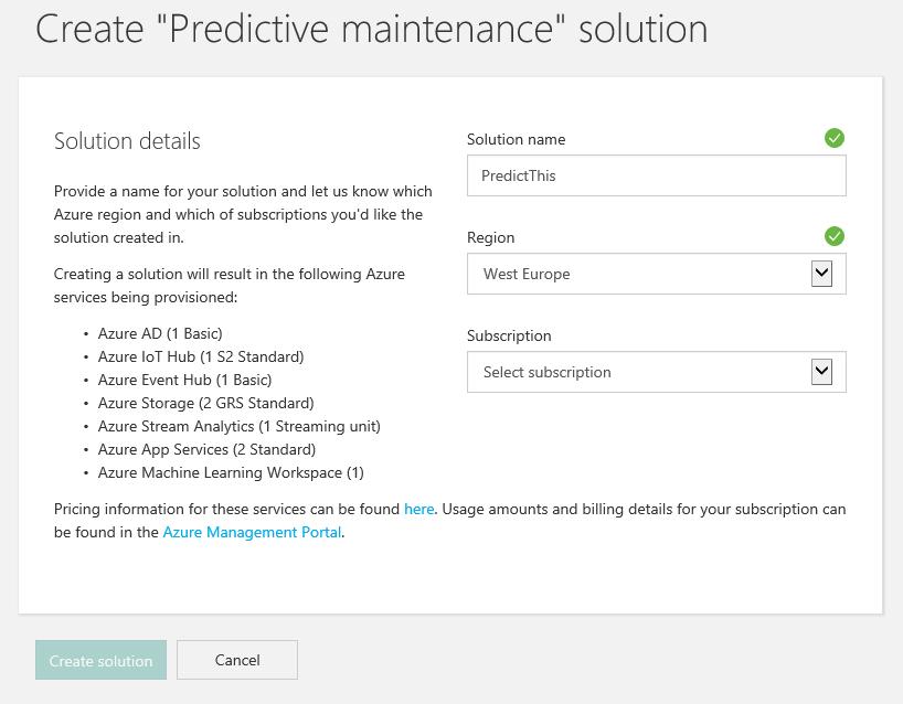 IoT Suite - Under The Hood - Predictive Maintenance - TechNet