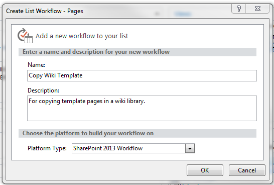 Creating a workflow for copying sharepoint wiki page templates creating the workflow in sharepoint designer maxwellsz