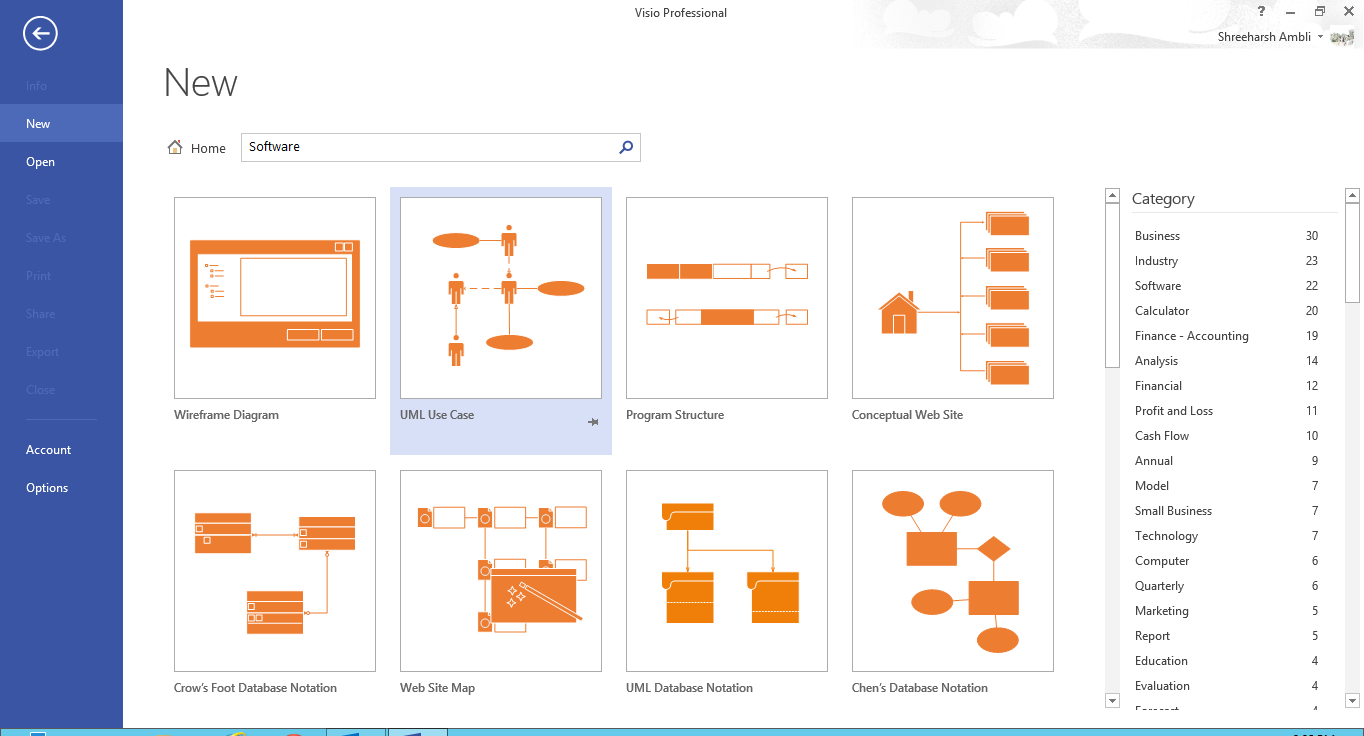 Next, Choose The UML Use Case Template: