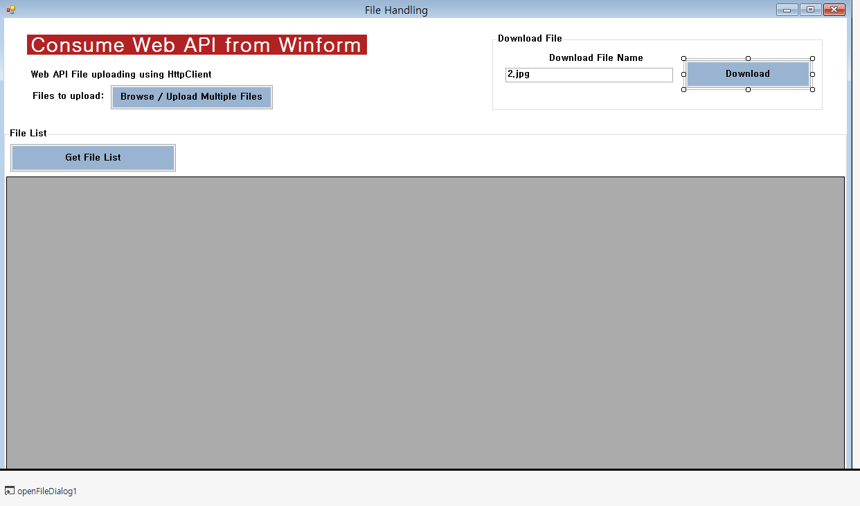 Consume Web API in Winform for File Handling - TechNet Articles