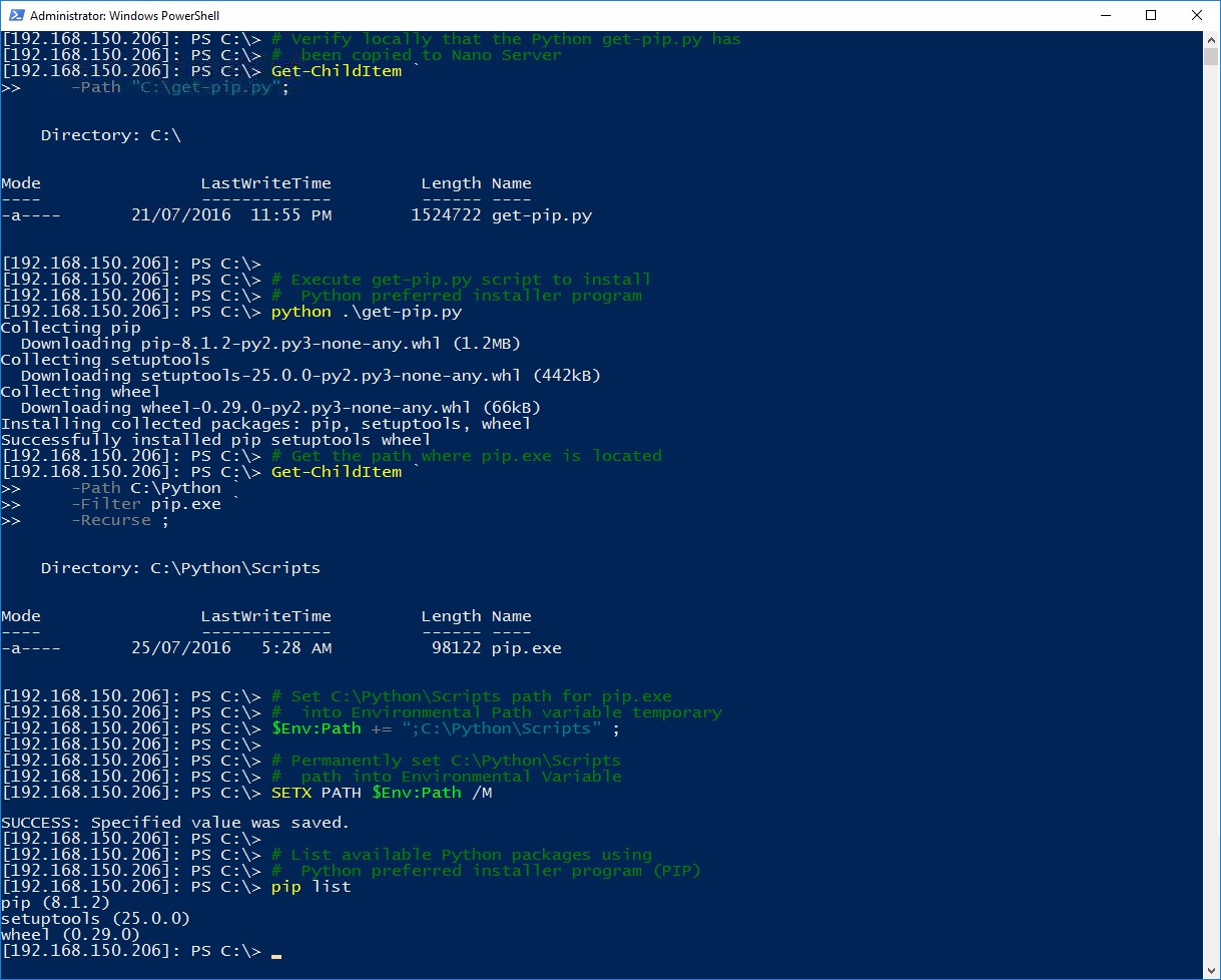 how to install python windows powershell
