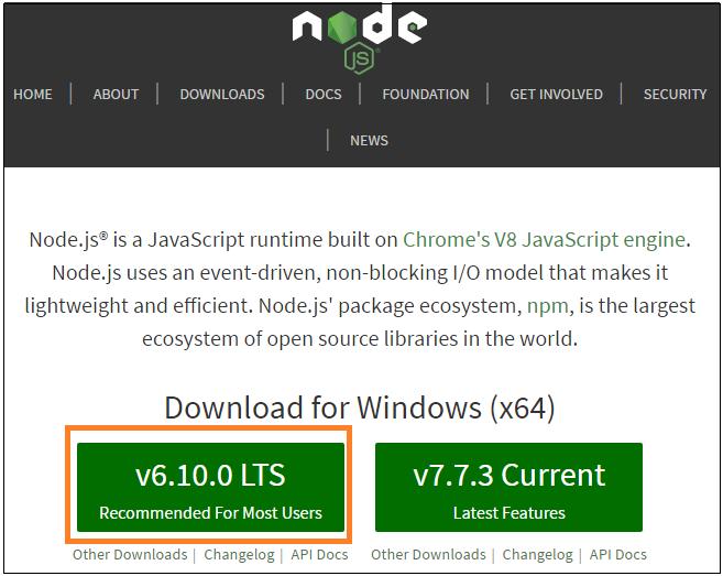 Figure 1 Download Nodejs Set Up