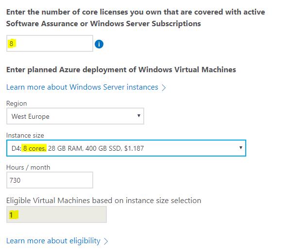 microsoft windows licensing calculator