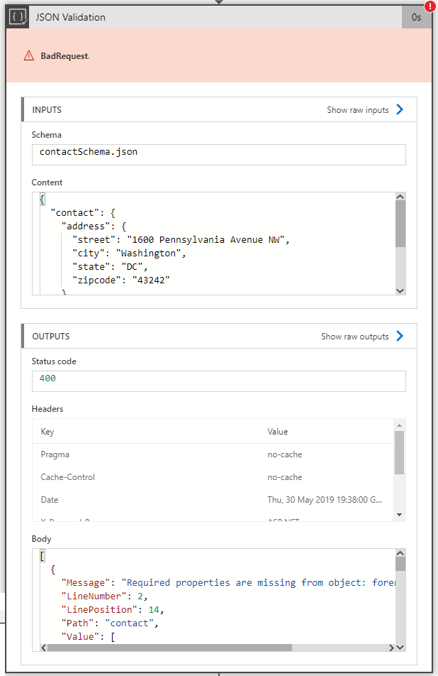 Logic Apps: Message Validation with XML, JSON and Flat-File Schemas