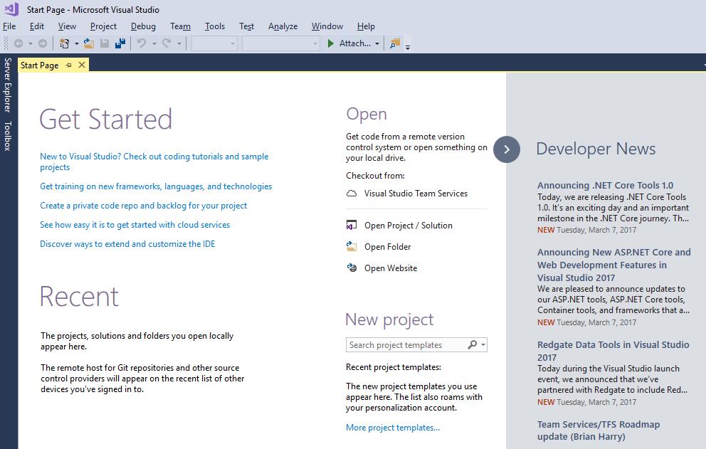 Visual Studio Community 2017: Getting Started - TechNet