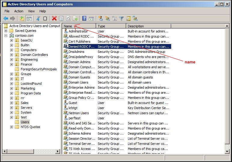 Active directory attributes in the aduc gui tool technet articles united states english - Console active directory ...