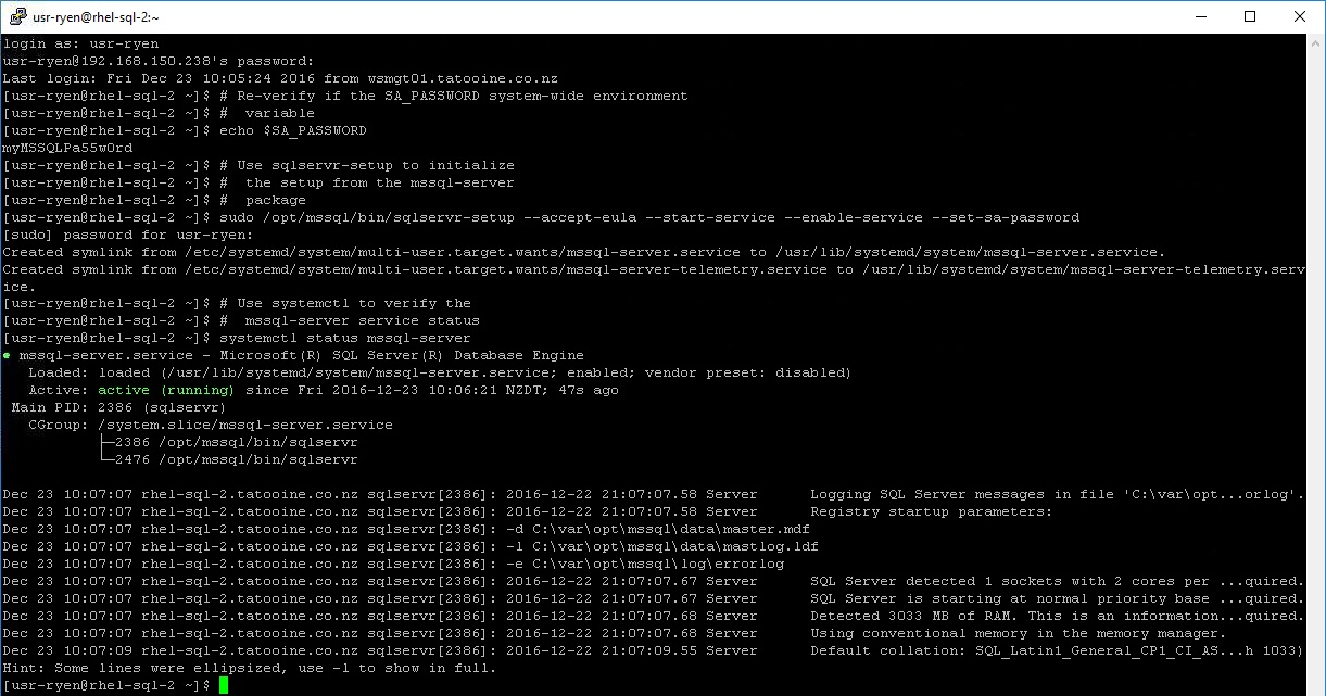 SQL Server: Getting Started with MS SQL Server on Red Hat