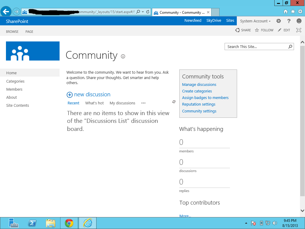 SharePoint 2013: Social Features, Community Site - TechNet Articles ...