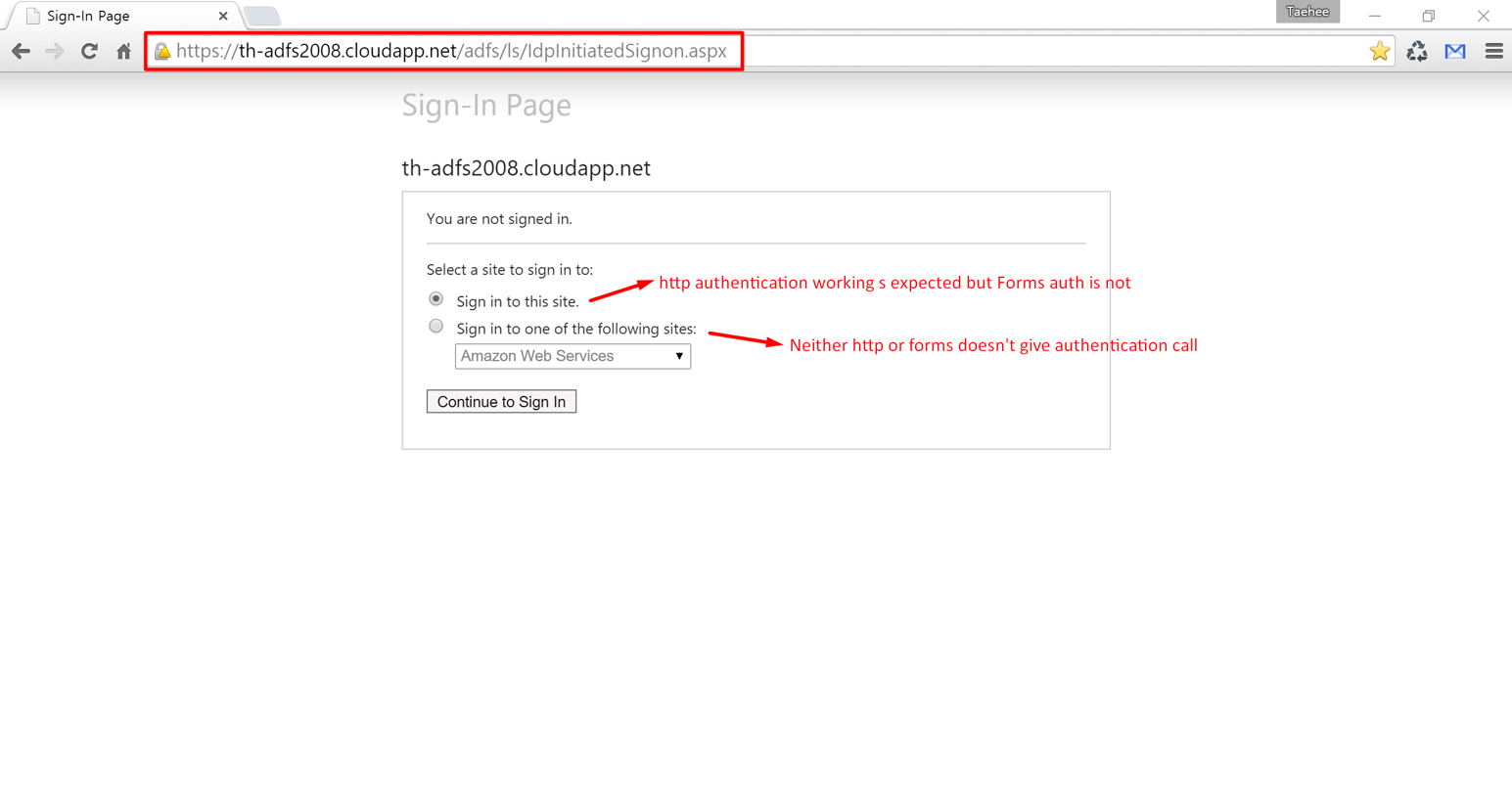 SSO for AWS with ADFS 2 0 – Cloud(Azure/O365) implementation support