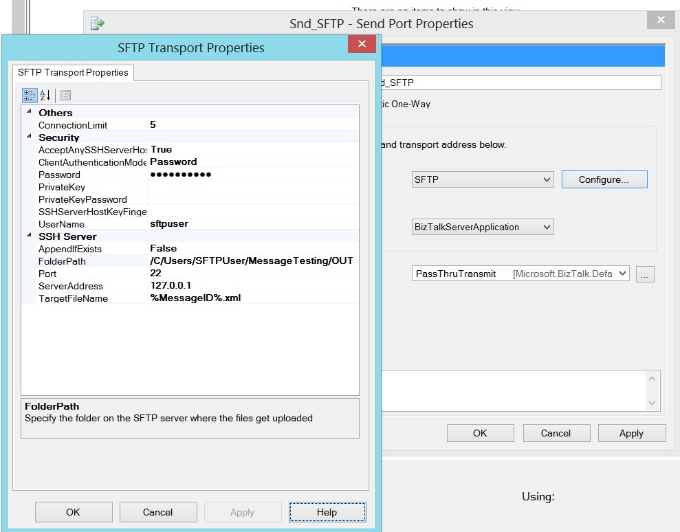 BizTalk Server 2013: How to use SFTP Adapter - TechNet Articles