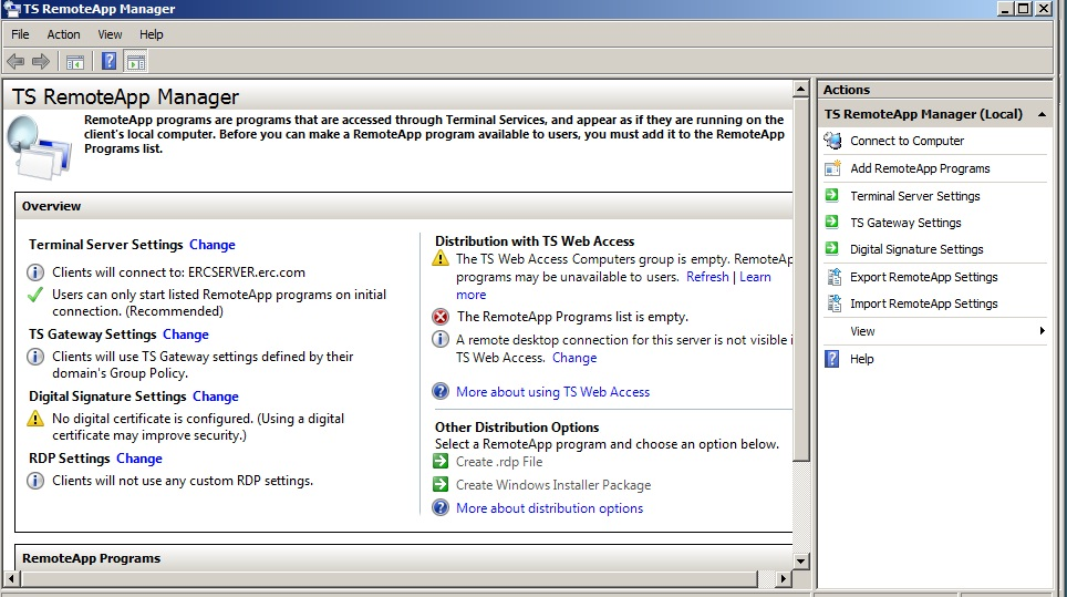 Configuring TS Web Access in Windows 2008 Server - TechNet Articles