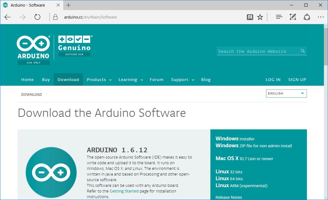 Arduino genuino download