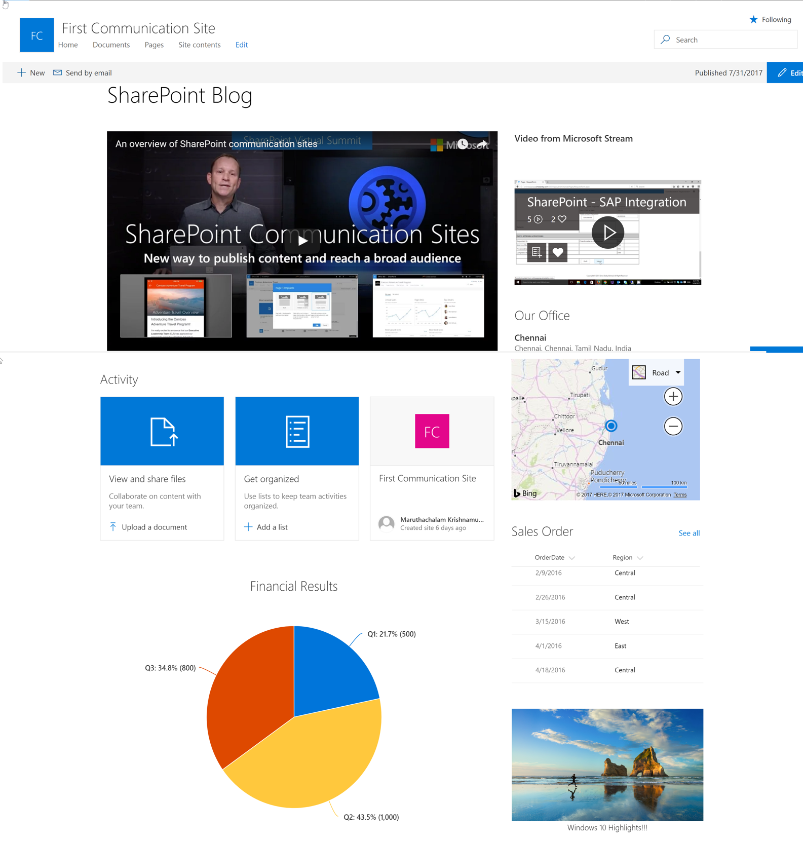 Sharepoint online communication sites technet articles for Apps like design home