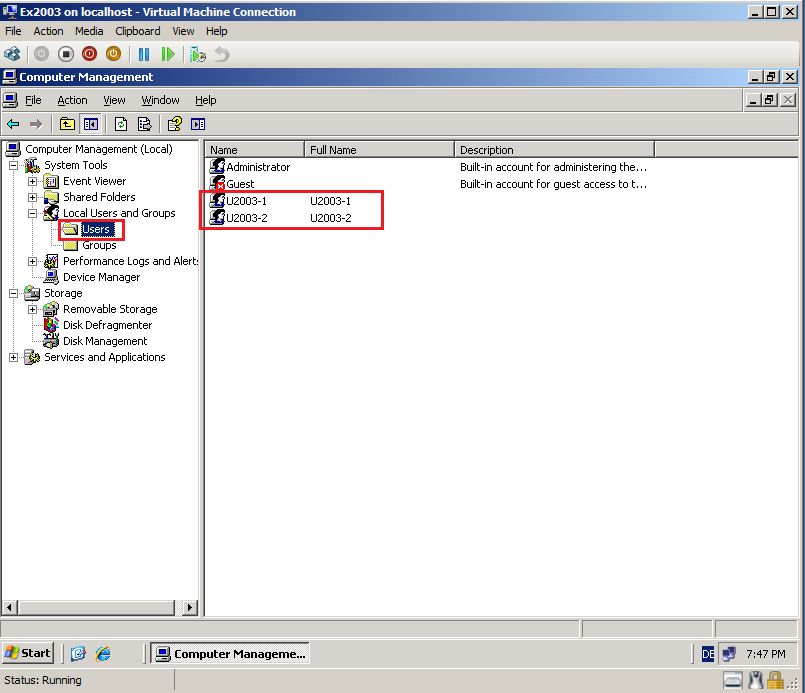 Migrate local users & groups from windows server 2003 to 2008 r2.