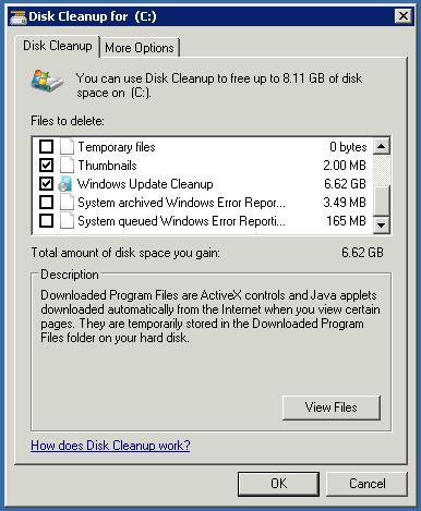 download folder size for windows server 2008