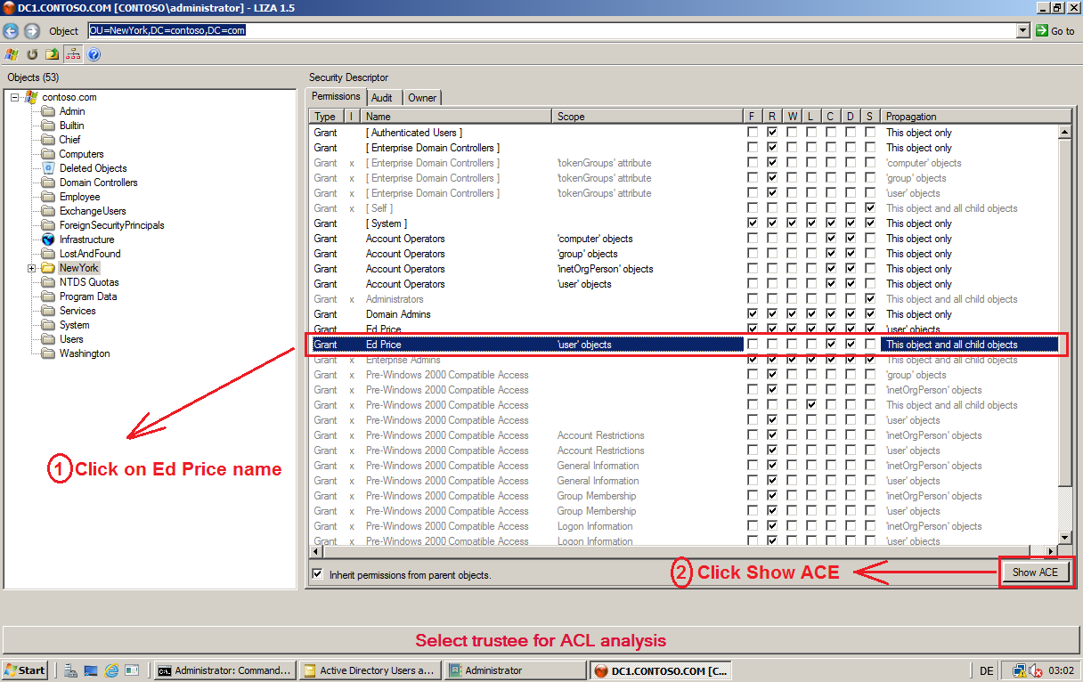 How to View or Delete Active Directory Delegated Permissions