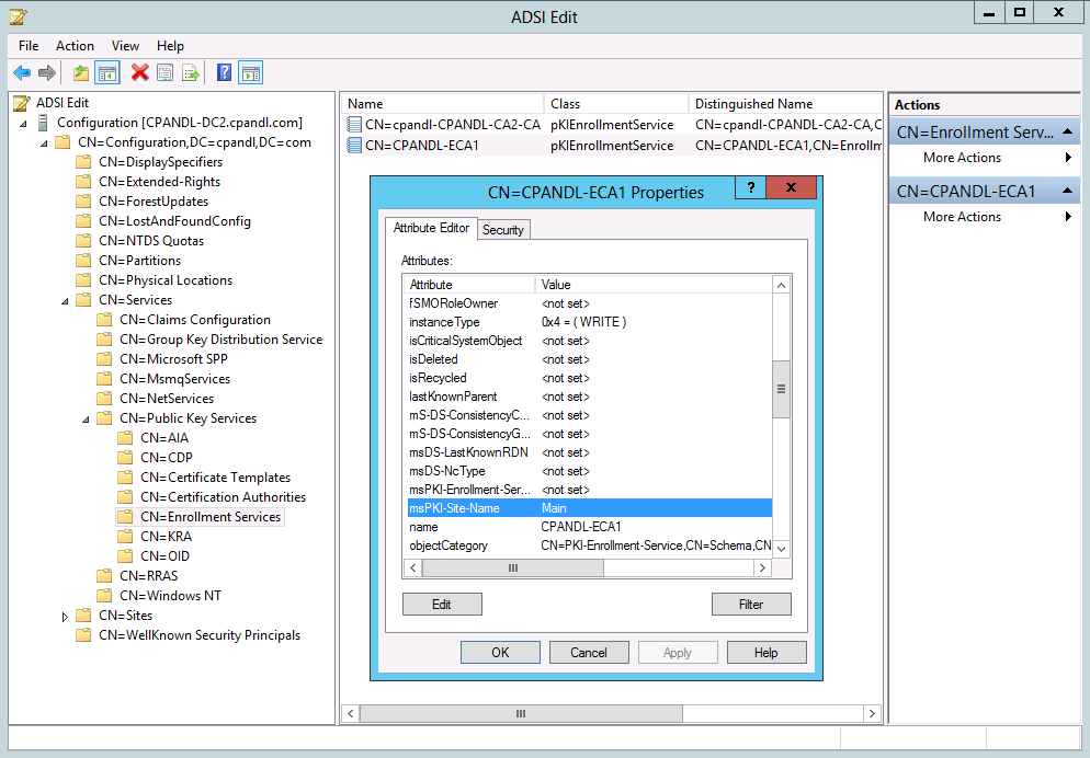 AD DS Site Awareness for AD CS and PKI Clients - TechNet Articles