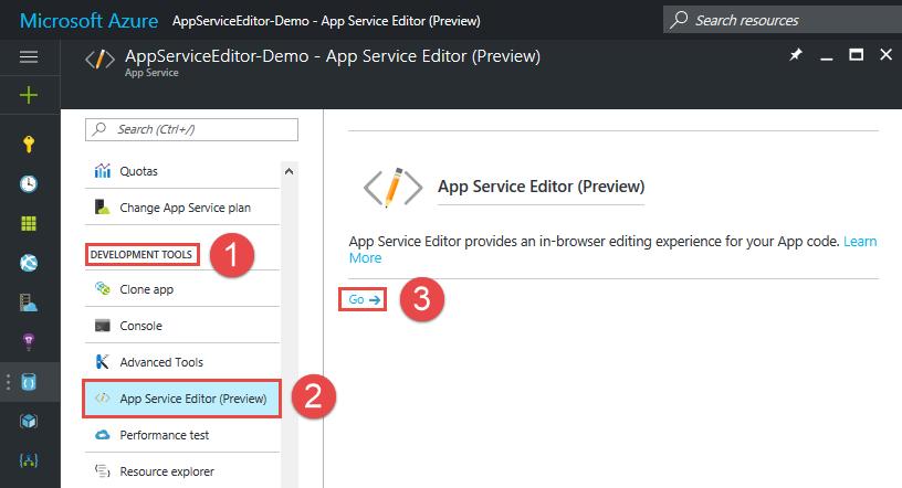 Understanding the Azure App Service Editor - TechNet