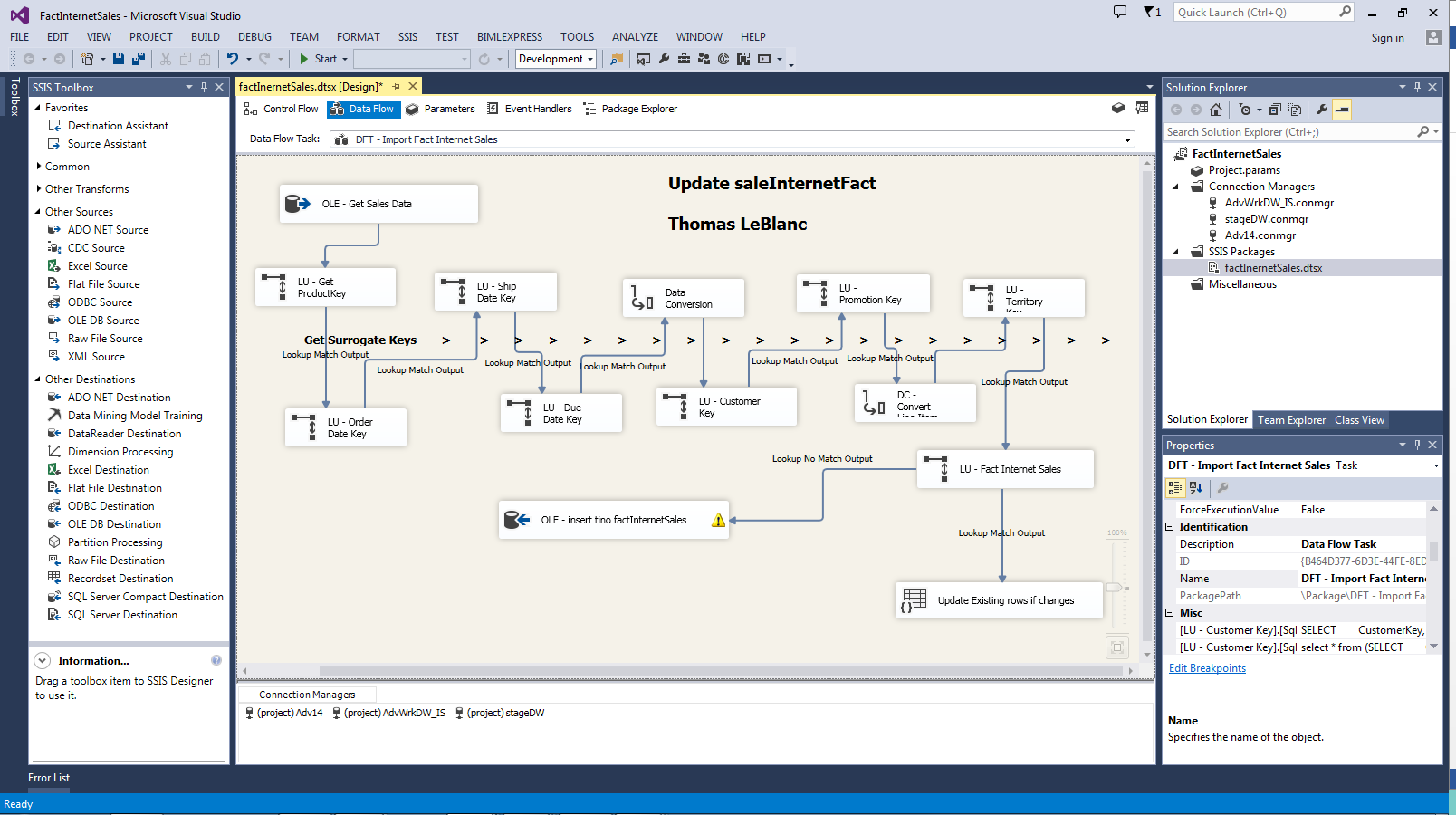 SSIS: Using A Lookup Component - TechNet Articles - United