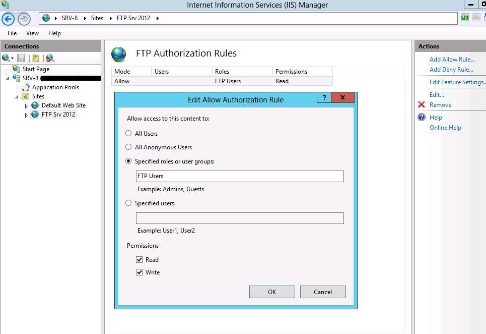 Windows Server 2012 FTP Installation - TechNet Articles - United