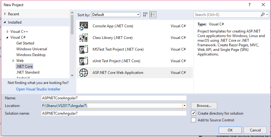 ASP NET Core 2 1: Getting Started with Angular 7 - TechNet
