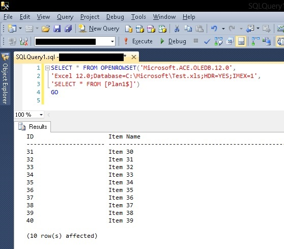 Importing an Excel Spreadsheet into a SQL Server Database